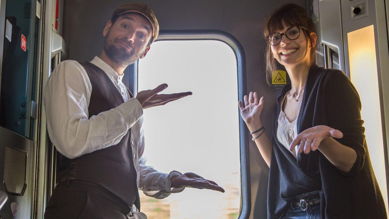 Fotografia Joan Boluda y Lucie Pellier llegando a París