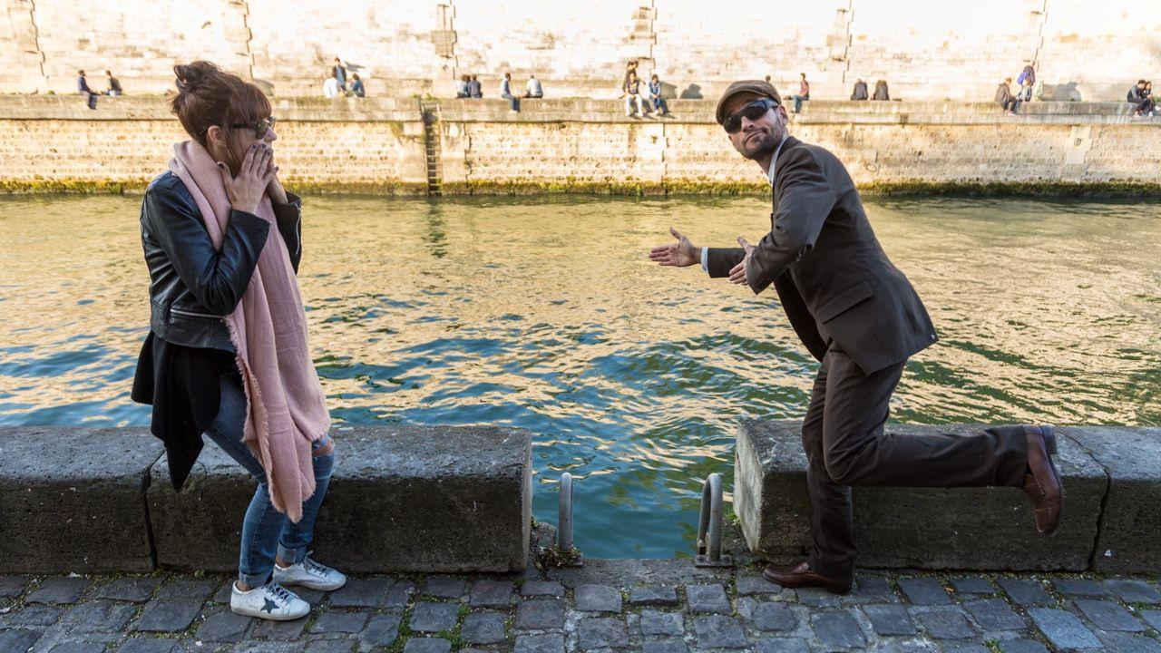 Fotografia Joan Boluda y Lucie Pellier en el Sena