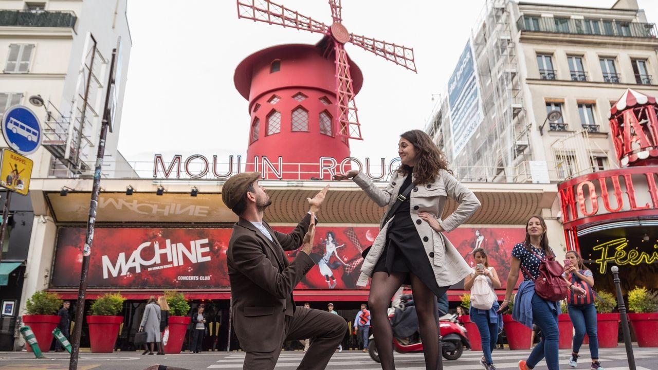 Fotografia Joan Boluda y Sara Giral en el Moulene Rouge