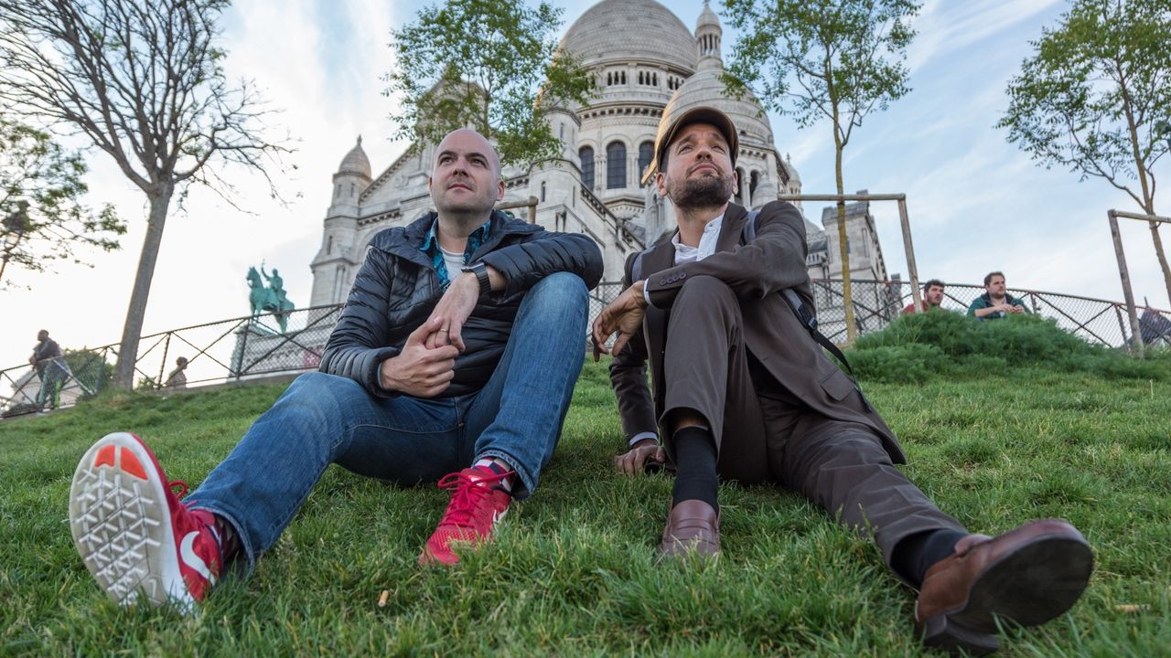 Fotografia Joan Boluda y Víctor Correal en el Sacré-Coeur