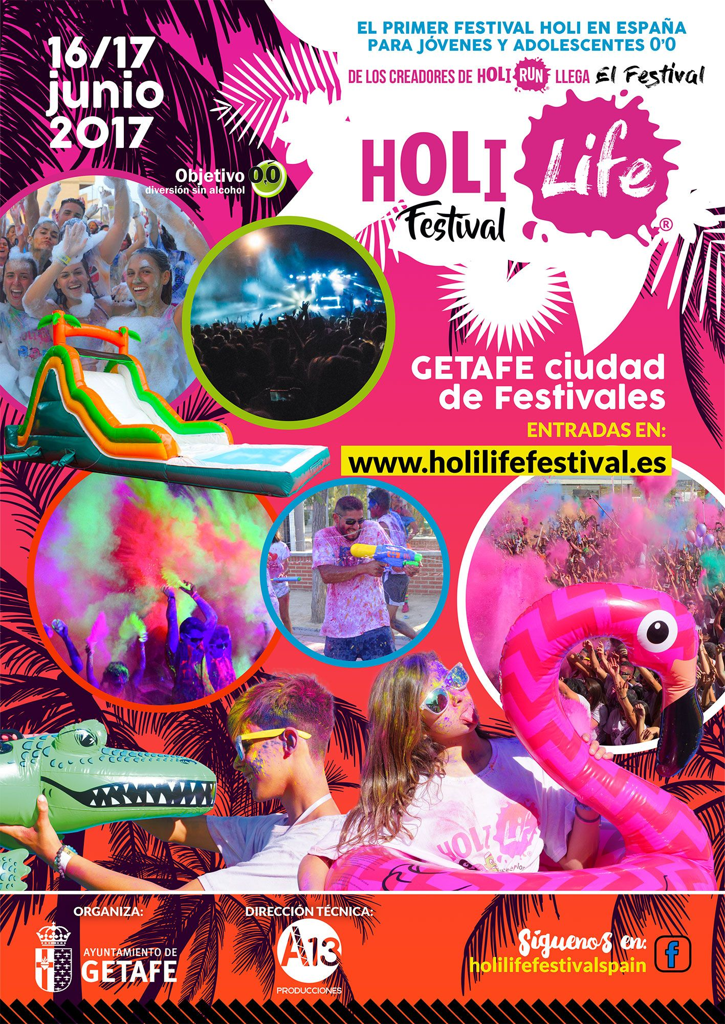 Fotografia Cartel Holi Life Festival