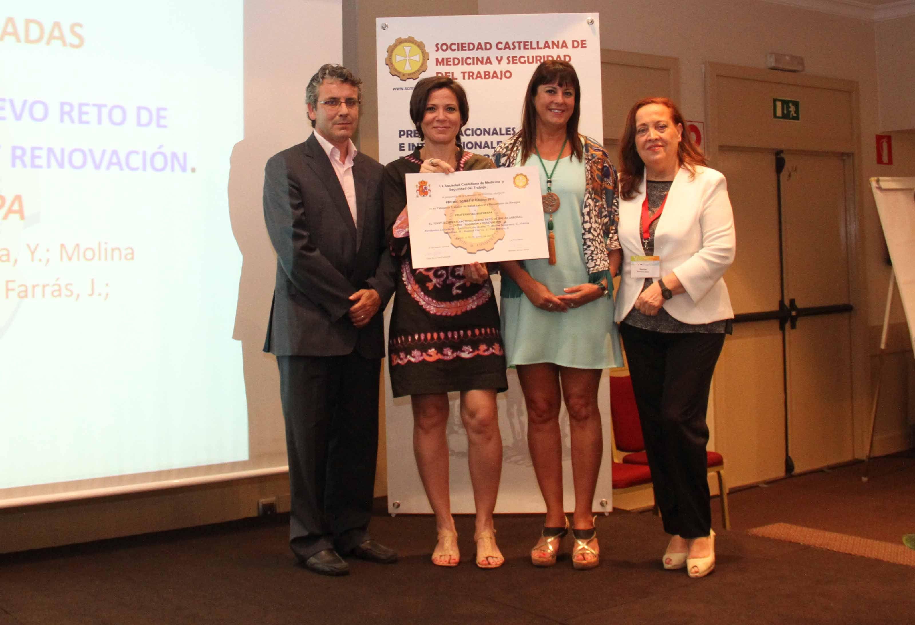 La SCMST premia a Fraternidad-Muprespa por el libro 'Envejecimiento Activo'