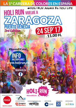 Cartel Holi Run Zaragoza 3rd Edition