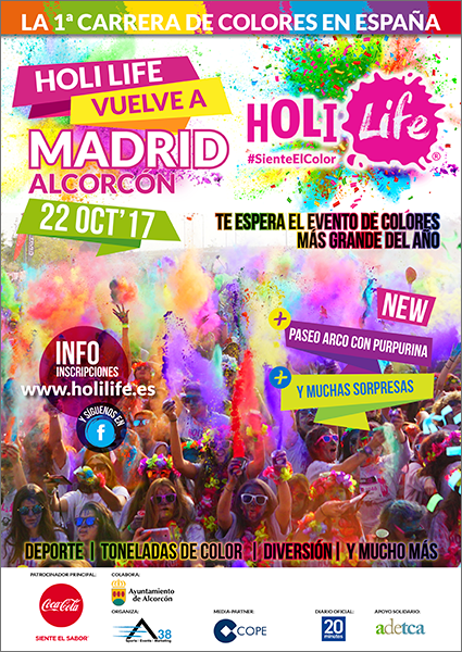 Fotografia Cartel Holi Life Madrid Alcorcón 22-10-17