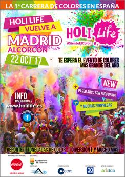 Cartel Holi Life Madrid Alcorcón 22-10-17