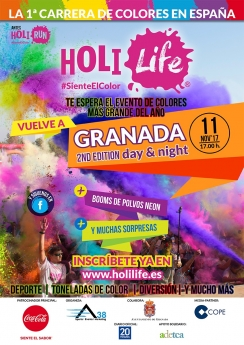 Cartel Holi Life Granada 2nd Edition
