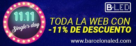 Barcelona LED celebra el 11.11 y el Black Friday con descuentos hasta el 80%