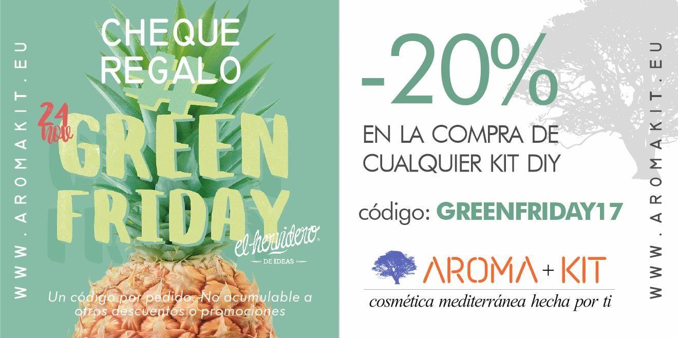 Aromakit se une al GreenFriday con un 20% de descuento en todos sus kits DIY
