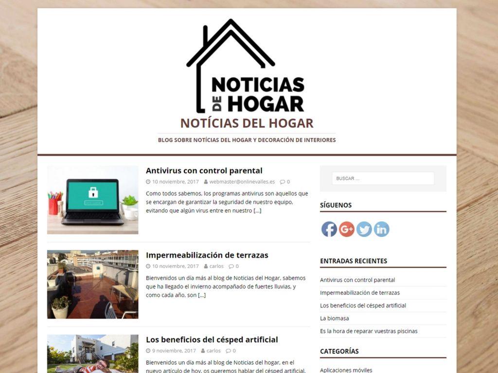 El blog de Noticias del Hogar alcanza las 5.000 visitas mensuales