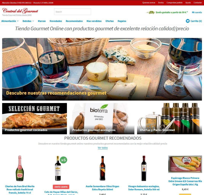 Fotografia Tienda Gourmet Online con productos gourmet de excelente