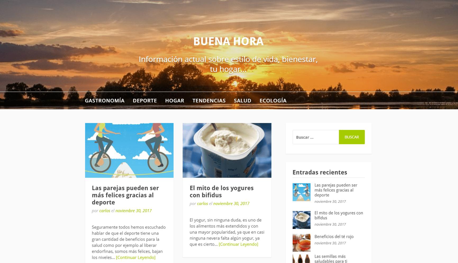 Se inaugura el blog www.buenahora.es