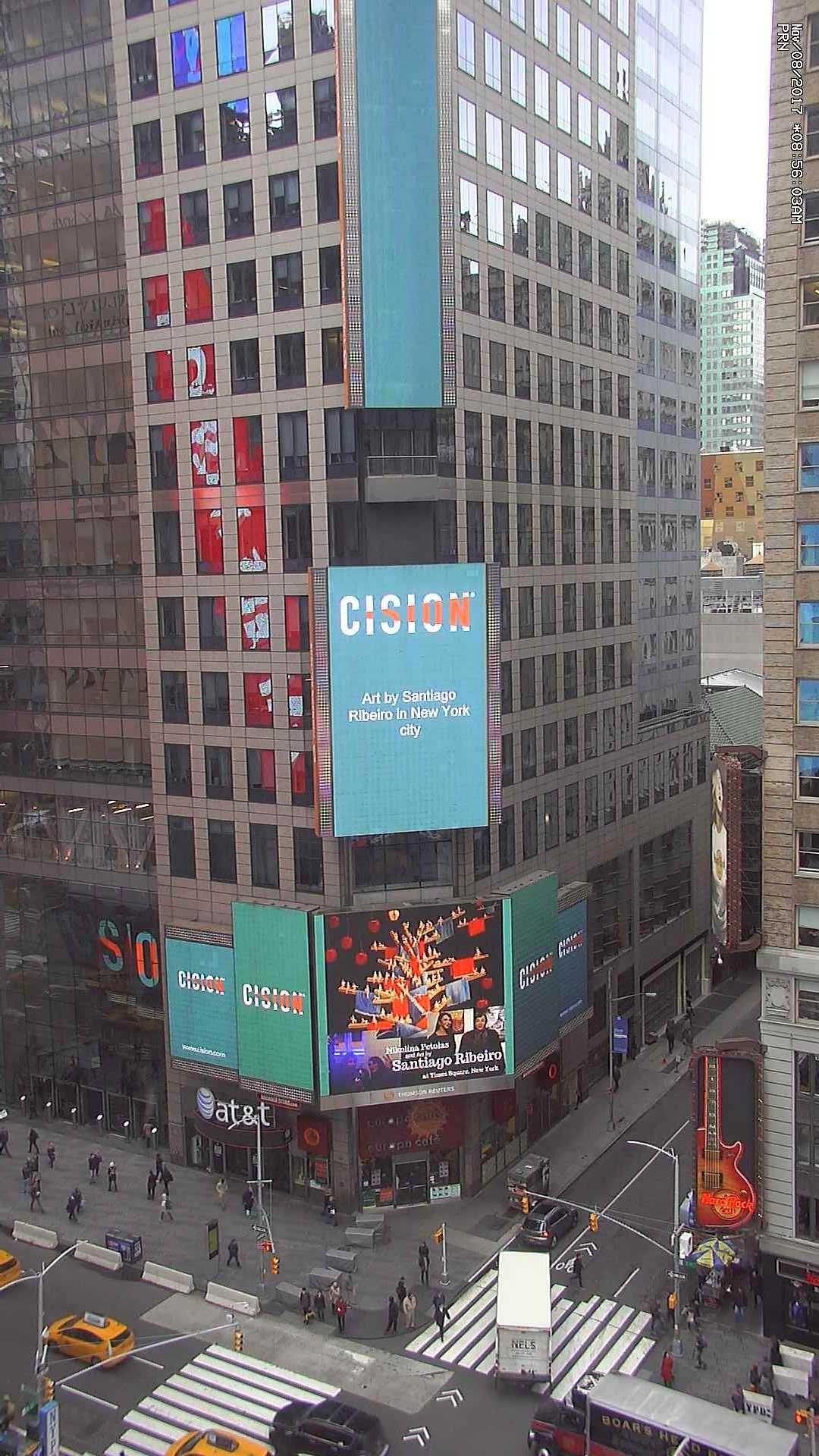 Fotografia Exposición de Santiago de Ribeiro en Times Square, Nueva