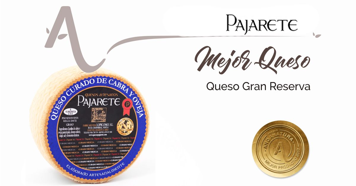 Quesos Pajarete obtiene el premio al mejor queso de los espacios naturales andaluces 2017
