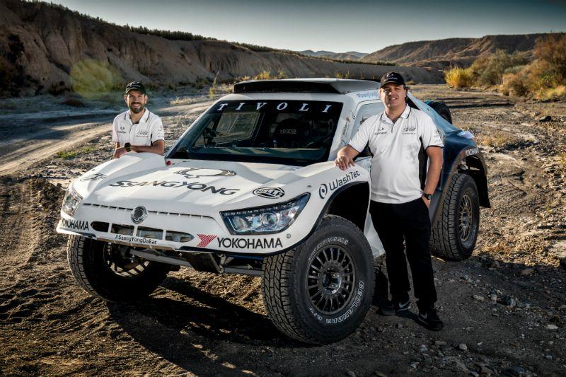 WashTec testigo del debut del equipo SsangYong en el Dakar 2018