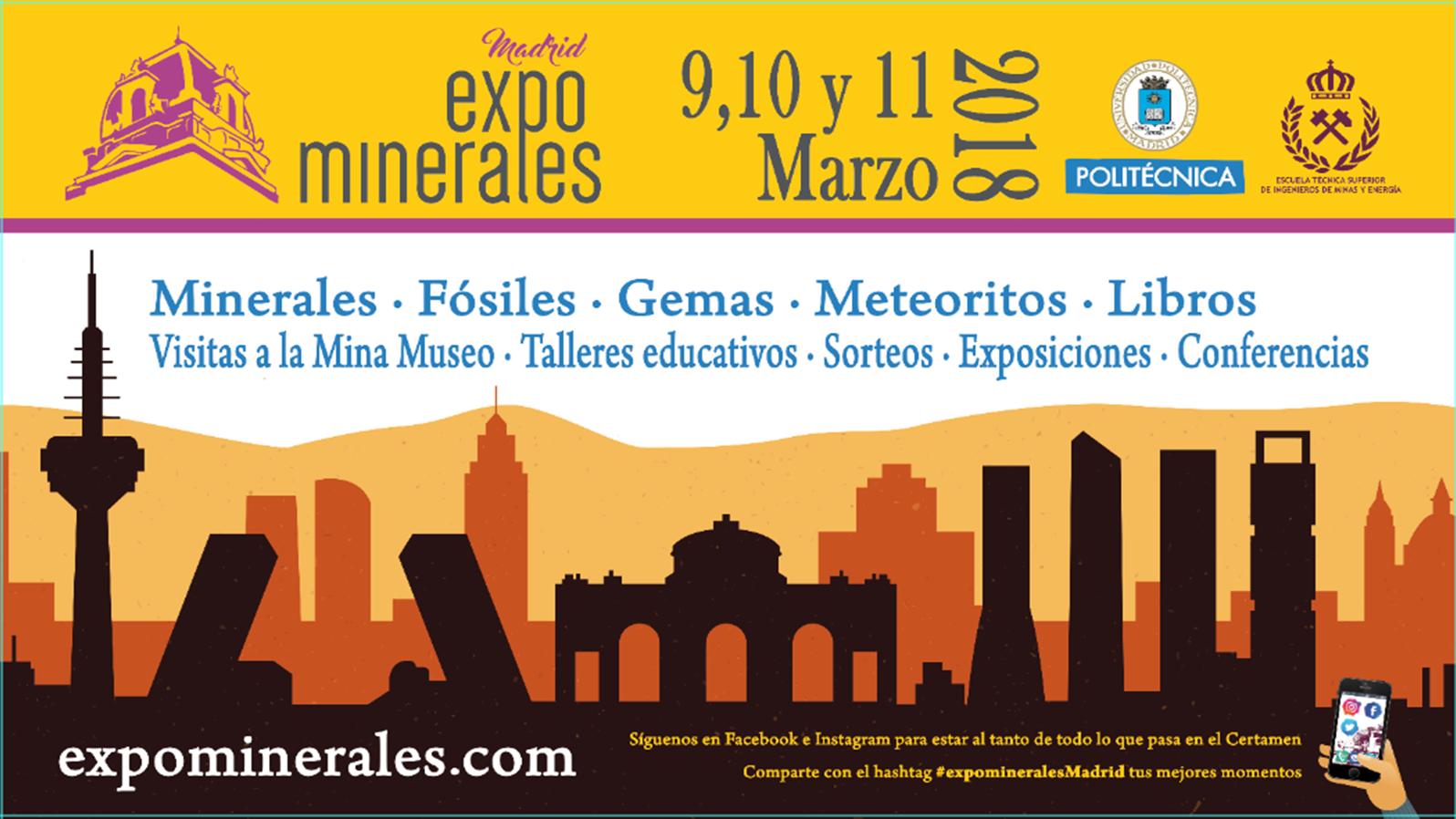 Fotografia Presentación Expominerales Madrid 2018