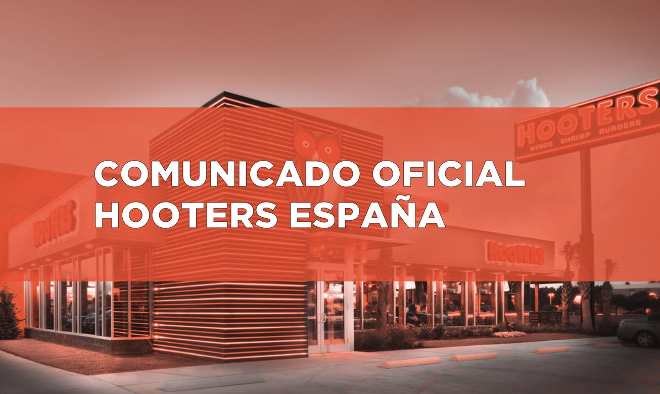 Fotografia Comunicado oficial Hooters España
