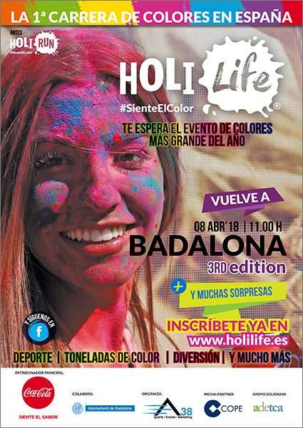 Fotografia Cartel Holi Life Badalona 3rd Edition 08-04-18