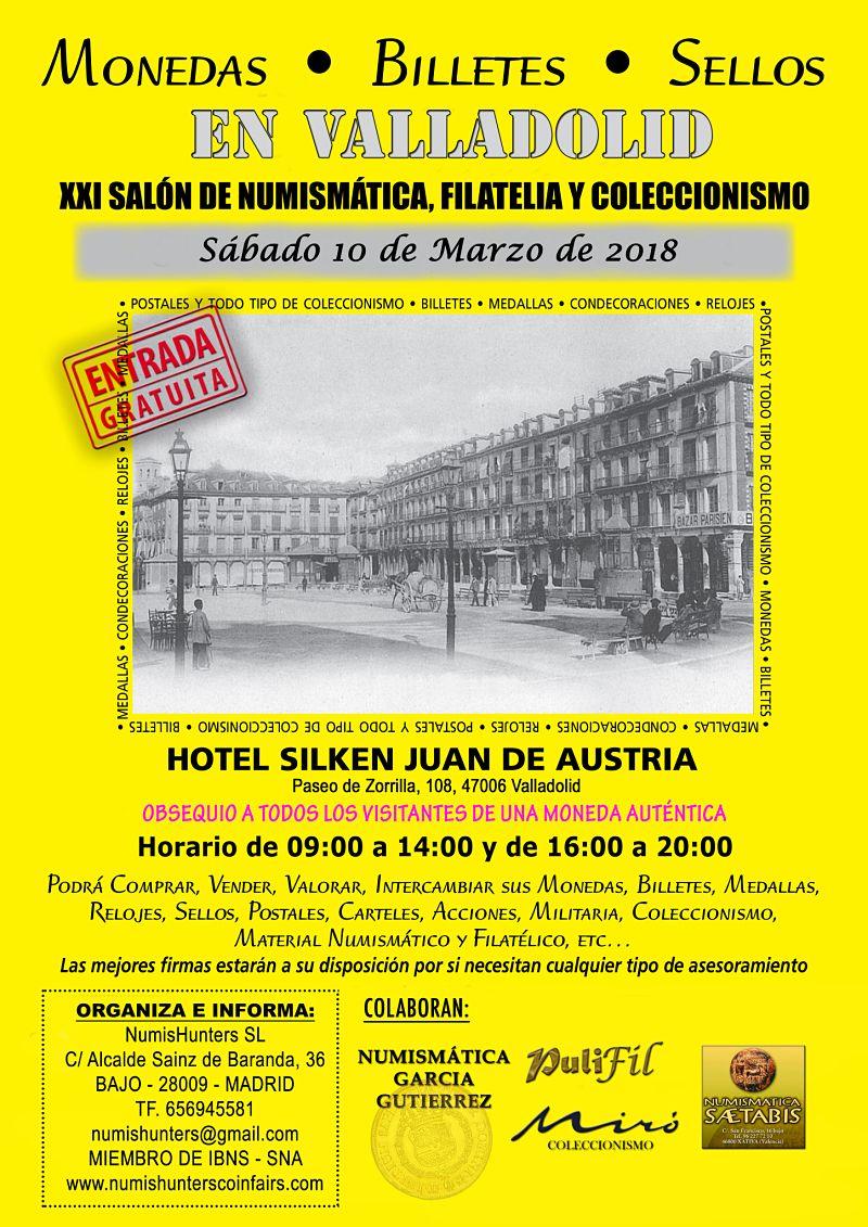 Fotografia Cartel del Salón de Numismática, Filatelia y