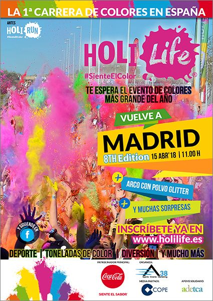 Fotografia Cartel Holi Life Madrid 8th Edition 15-04-18