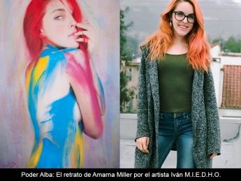 Retrato de Amarna Miller por Iván MIEDHO