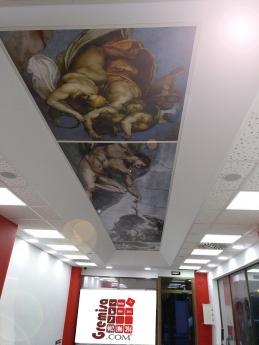 Detalle techo oficina Tarragona