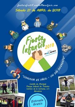"""Cartel de la Fiesta Infantil """"Convivir es fácil - Un día diferente"""""""