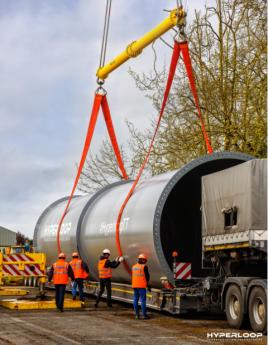 Construcción del sistema Hyperloop con tubos