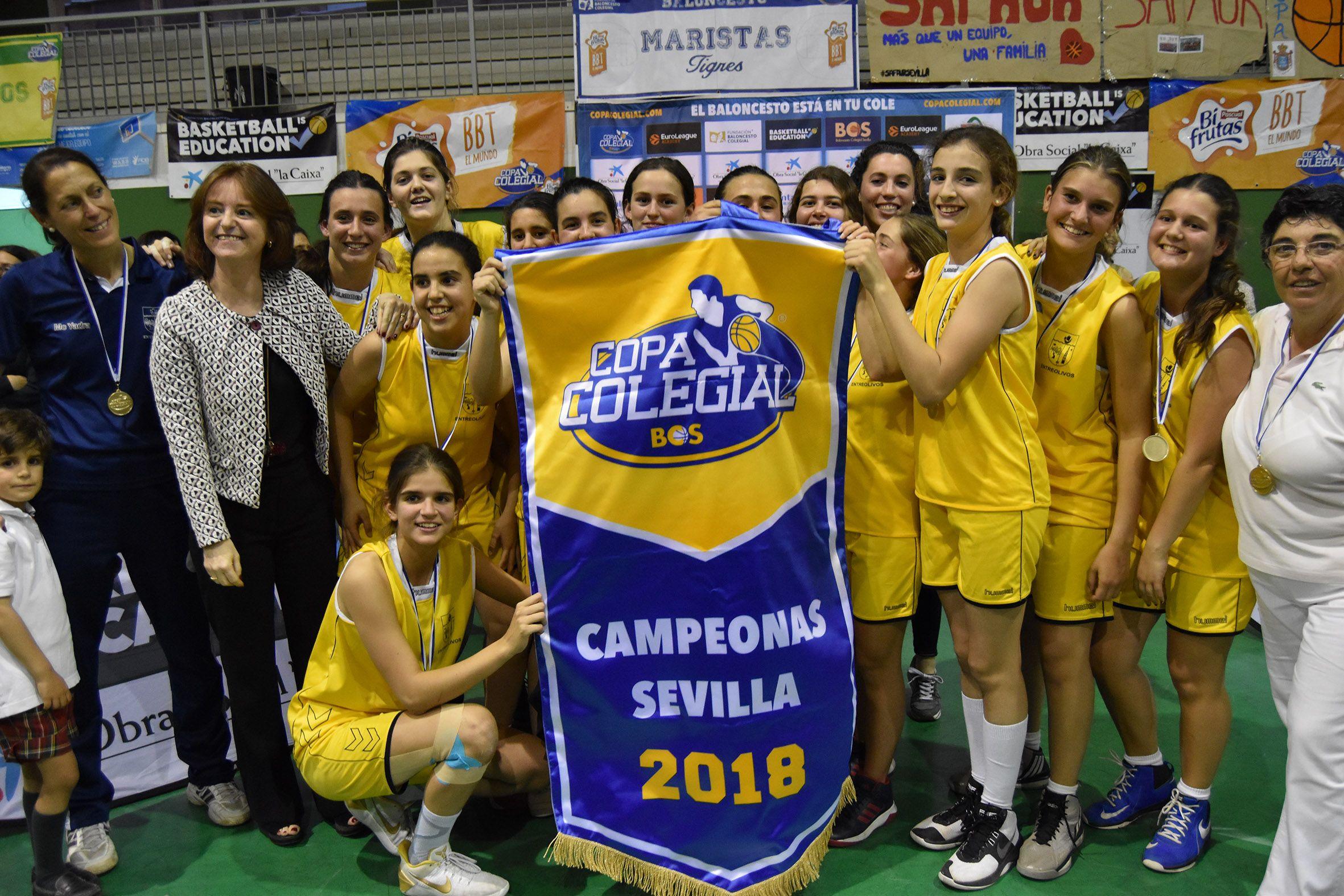 Entreolivos y Caura, campeones de una emocionante y disputada Gran Final de la Copa Colegial en Sevilla
