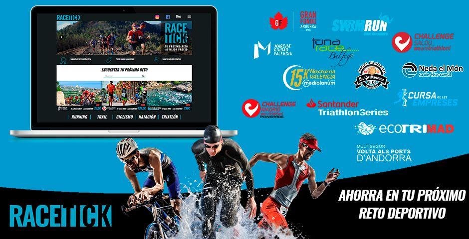 Nace Racetick, la plataforma web de retos deportivos con precios bonificados