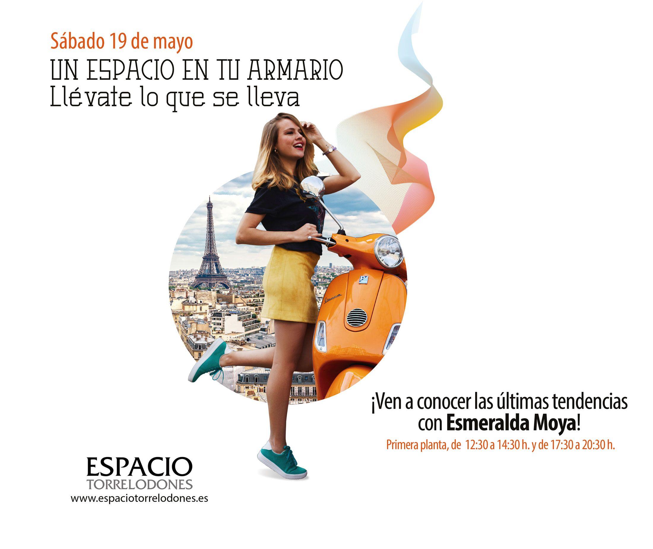 Esmeralda Moya, anfitriona de moda en el Centro Comercial Espacio Torrelodones de Madrid