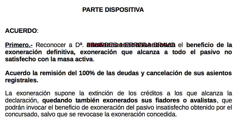 Fotografia Auto cancelación de las deudas incluyendo a los avalistas