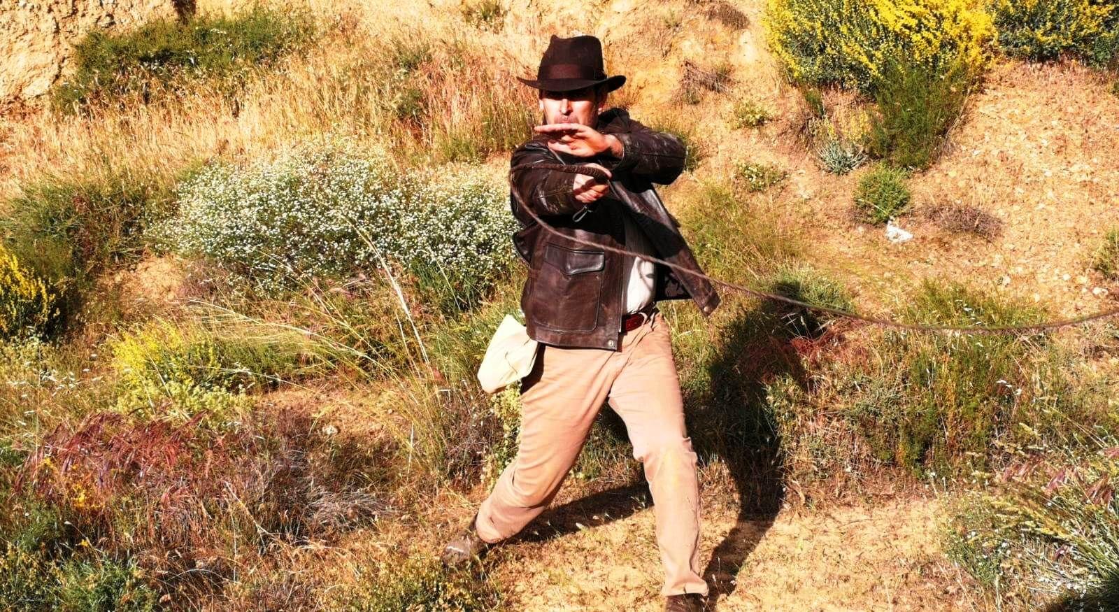 Fotografia El protagonista del Fan Film manejando el látigo