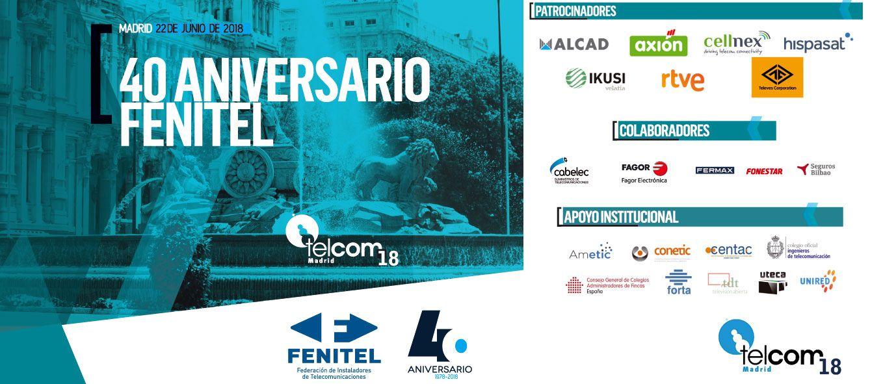 Fotografia Congreso Telcom´18 - 40º Aniversario de FENITEL
