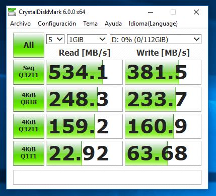 Fotografia Velocidad de los discos SSD