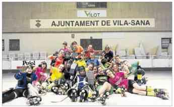 El equipo de hockey patines Vila-Sana