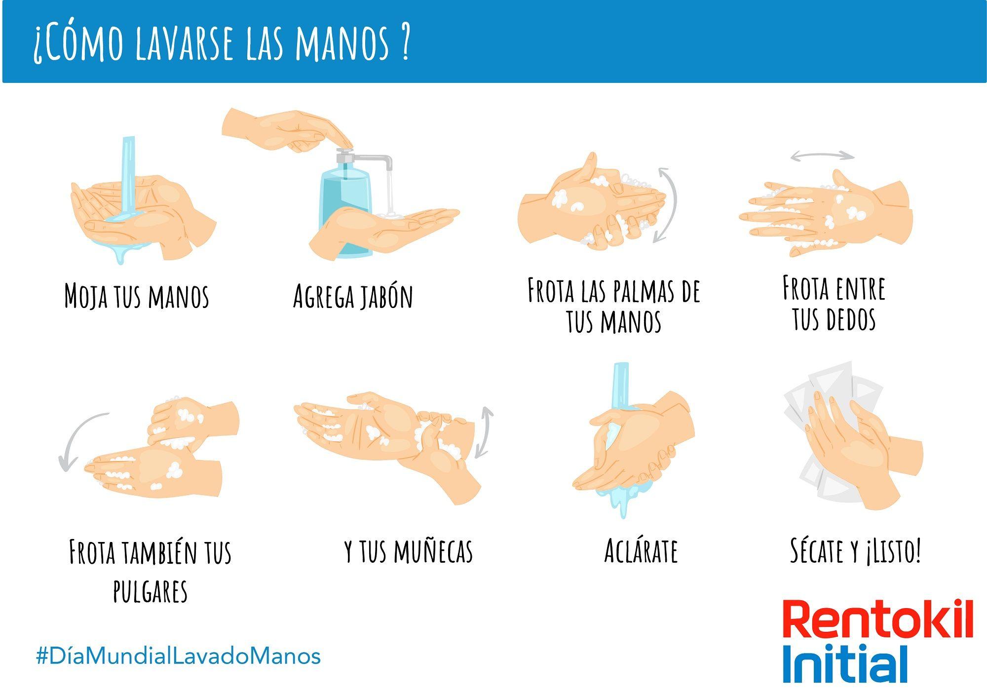 rentokil día mundial lavado manos limpias son