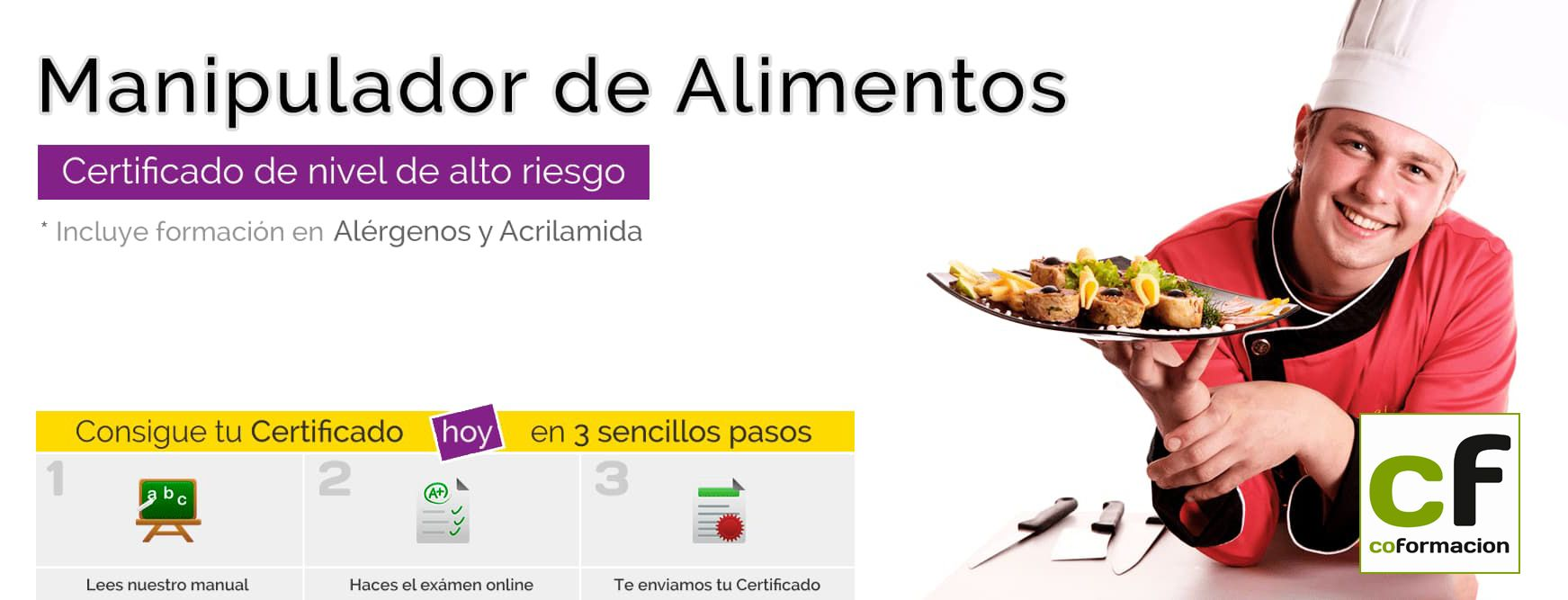 Cómo conseguir el carnet de manipulador de alimentos online con Coformación