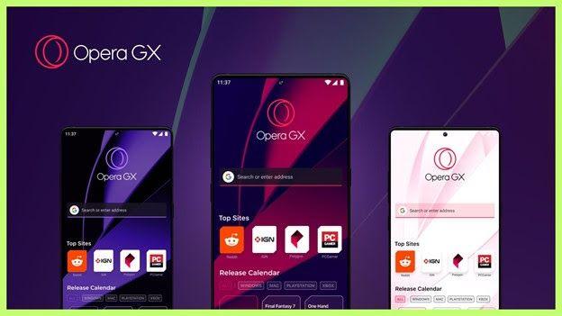 El primer navegador móvil del mundo para jugadores,   Opera GX Mobile, se presenta oficialmente en el E3