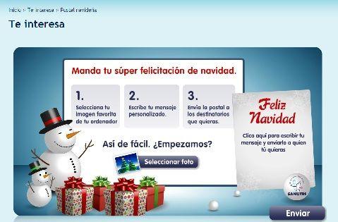 Felicitacion Navidad Personalizada Fotos.Sanutri Ayuda A Felicitar La Navidad Con Una Postal Navidena
