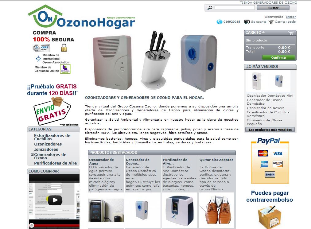 Cosemar Ozono Lanza Su Nueva Tienda Online Para El Hogar