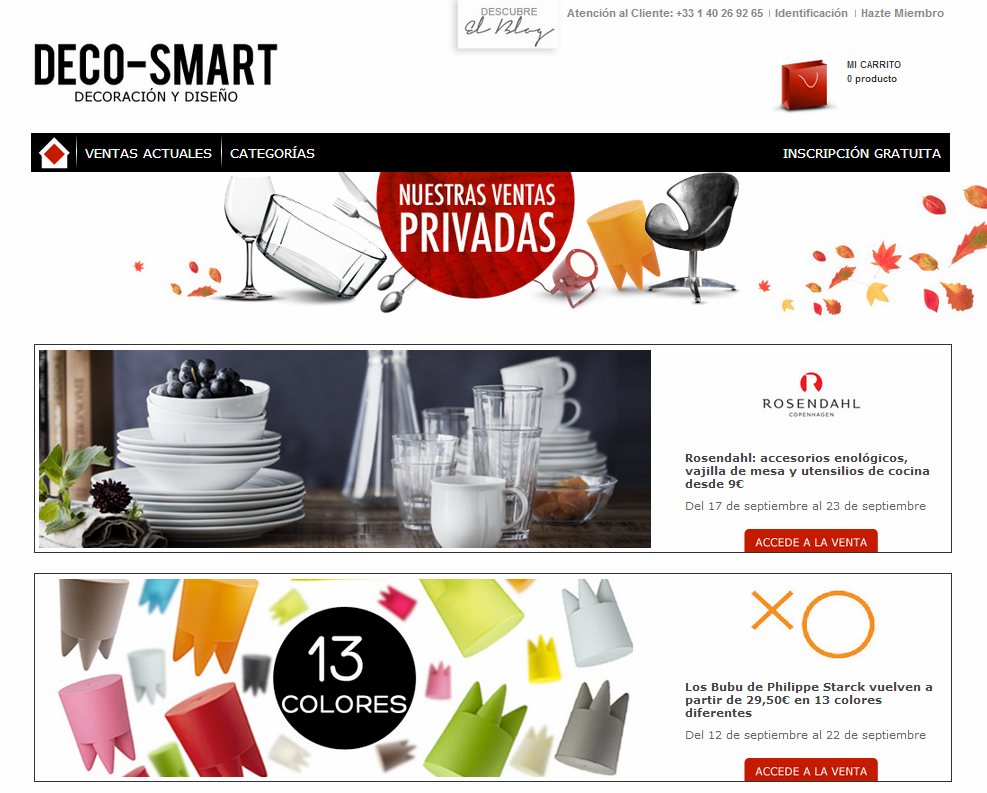 deco smart presenta su nueva web notas de prensa. Black Bedroom Furniture Sets. Home Design Ideas