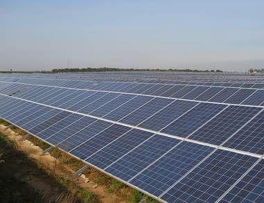 Foto de Planta solar fotovoltaica promovida en India