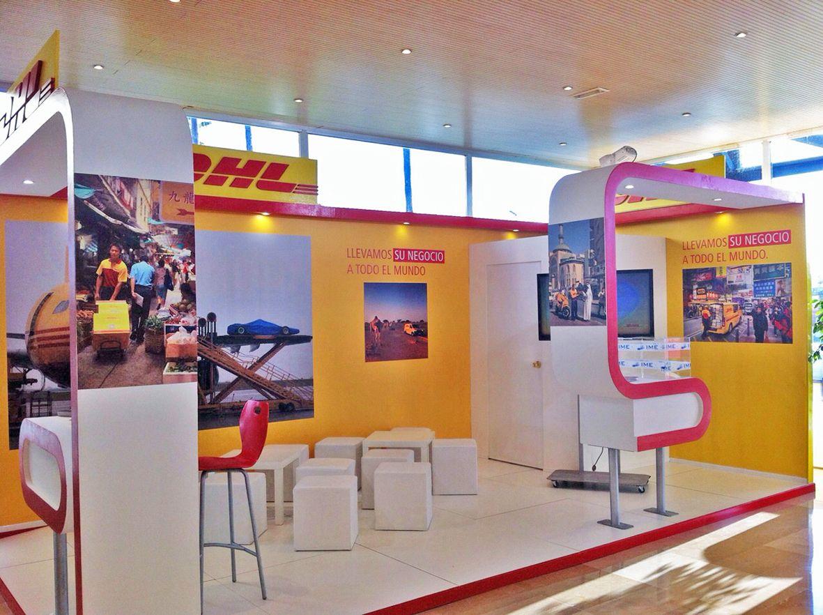 Fotografia Stand de DHL en la Feria IMEX Sevilla