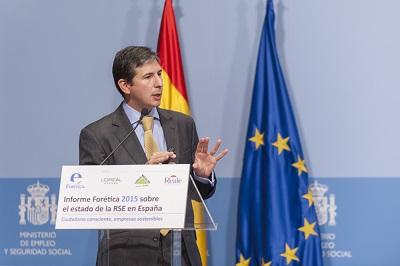 Jaime Silos en acto de presentación Informe Forética 2015