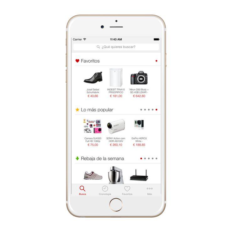 Fotografia App EncuentraPrecios Home Page
