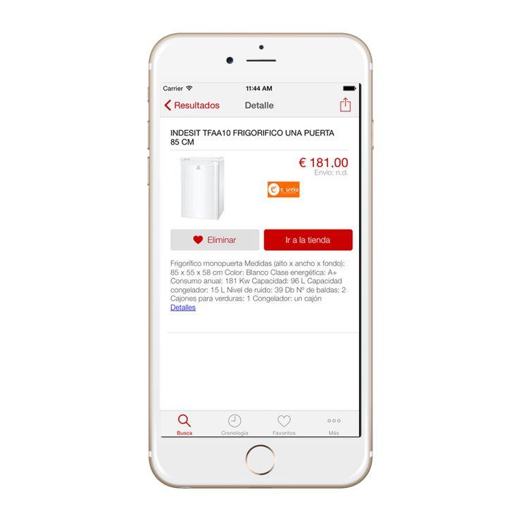 Fotografia App EncuentraPrecios Ficha de producto