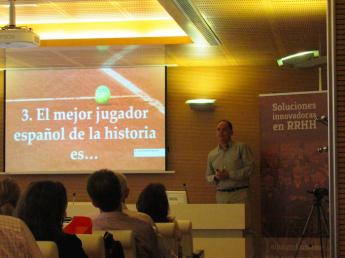 Miguel Crespo, en su conferencia sobre gestión del talento.