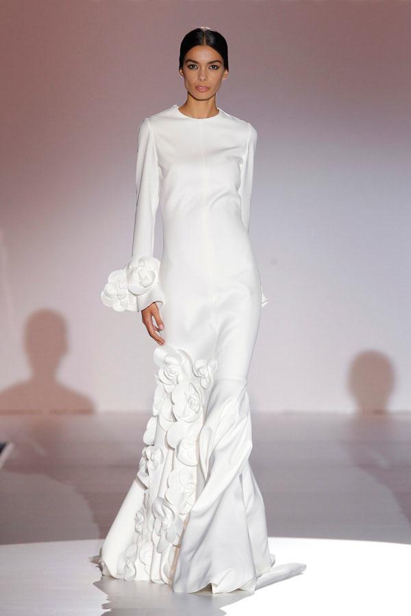 top 7 tendencias en vestidos de novia de pasarela - notas de prensa