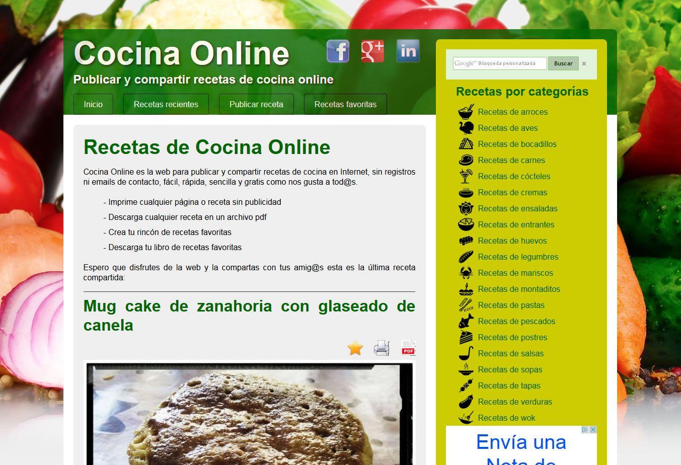 Cocina Online La Web Para Publicar Y Compartir Recetas De