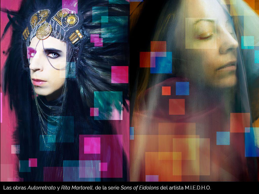 Fotografia Obras de la serie Sons of Eidolons del artista M.I.E.D.H.O.